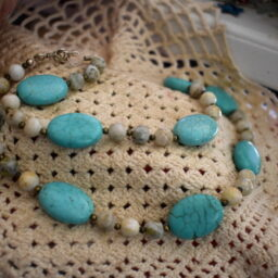 Turquoise 24″ Necklace  Artisan Designed by Julia